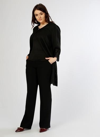 Ekol Bol Paça Pantolon Siyah